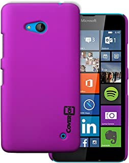 Lumia 640 Case (Purple Violet) by CoverON [Slender Fit] Series Hard Protective Slim Back Phone Cover for Microsoft Lumia 640 Case