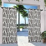 Hojas de palma estilizadas hojas de palma con bordes afilados y pequeños puntos tropicales inspiradas en la selva para dormitorio, sala de estar, porche, pérgola, sello marrón blanco