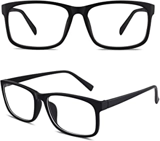 Happy Store CN12 Casual Fashion Basic Square Frame Clear...