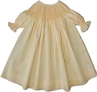 Ready to Smock Girls Yellow Bishop Dress Pima Cotton