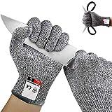 WELLXUNK® Schnittschutzhandschuhe Kinder, Schnittsichere Handschuhe, Küchenhandschuhe Level 5 Schutz, Schnittschutz-Handschuhe küche, Schnittfeste Arbeitshandschuhe, Küchenhandschuhe Schnittfest
