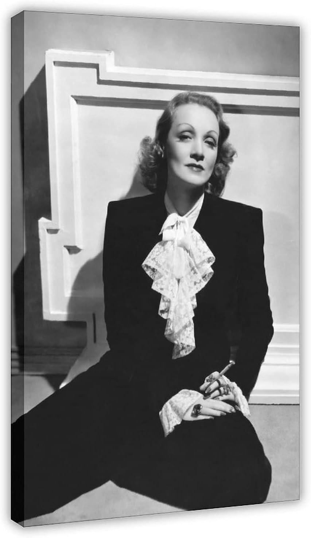 Póster de lona de Actor Marlene Dietrich 47, decoración de dormitorio, paisaje, oficina, decoración de habitación, marco de regalo, 30 x 45 cm