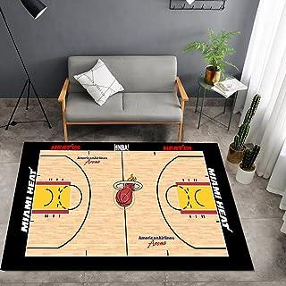 Tritow USA NBA Basketball Tapis NBA Heat Logo Court Salon Tapis antidérapant Facile à Nettoyer Tapis de Zone d'impression ...