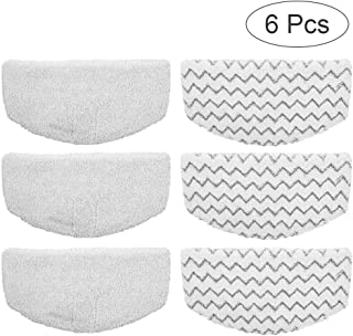 Knemksplanet 6 Pack Bissell Washable Microfiber Steam Mop Pads Replacement for Bissell Powerfresh Steam Mop 1940 1440 1544 1806 2075 Series, Models 19402 19404 19408 1940A 1940Q 1940T 1940W (6 Pack)