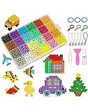 Abalorios Cuentas de Agua, 3600 Perlas Kit 24 Colors Perlas de Agua Niños DIY Educativos Artesanía Craft Kits Cuentas de Mágicas Manualidades