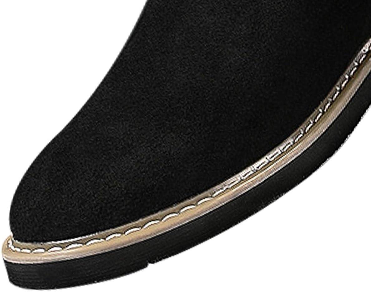 KEENPACE Zapatos de Cordones de Ante para Hombre Zapatos de Cuero Casual Vestir Oxford
