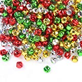 200 Pieces Jingle Bells 3/5Inch Craft Bell Bulk for Christmas Home and Pet Decorations (4 ...