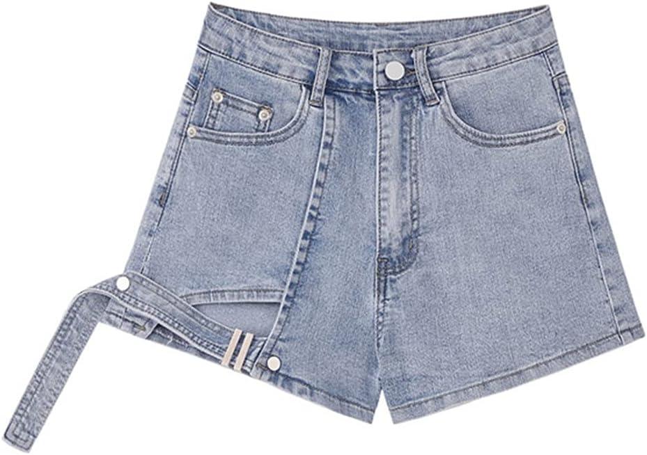 PDGJG Women's New products, world's highest quality popular! Denim Shorts Wide Legs High Waist Choice Summer Size Plus
