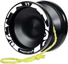 MAGICYOYO Professional Responsive Yoyo V3, Aluminum Yo Yo for Kids Beginner, Replacement Unresponsive Ball Bearing for Advanced Yoyo Players + Removal Bearing Tool + Bag + 5 Yoyo Strings