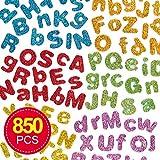 Baker Ross Lettere Autoadesive Glitterate in Gommapiuma (confezione da 850)...