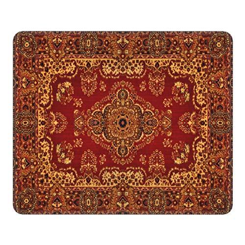 Alfombrilla de ratón de textura de alfombra persa, alfombrilla de ratón de goma antideslizante, accesorios de escritorio