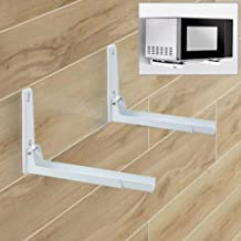 Microwave holder wall mount shelf rack stacker clamp silver