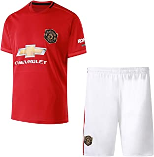 Manchester United Home Football Suit Family wear Adult Children's Shirts and Shorts Sportswear Suit