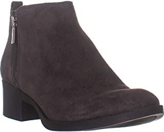 New York Women's Leather Ankle Bootie Boots Asphalt