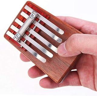 AKDSteel 5-Key Kalimba Rosewood Mbira Children Mini Guitar Thumb Piano Traditional Musical Instrument Kids