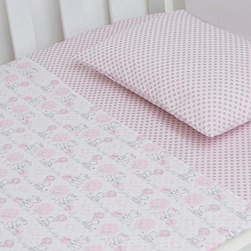 Jogo De Berço Compose 02 Peças, Papi Textil, Rosa