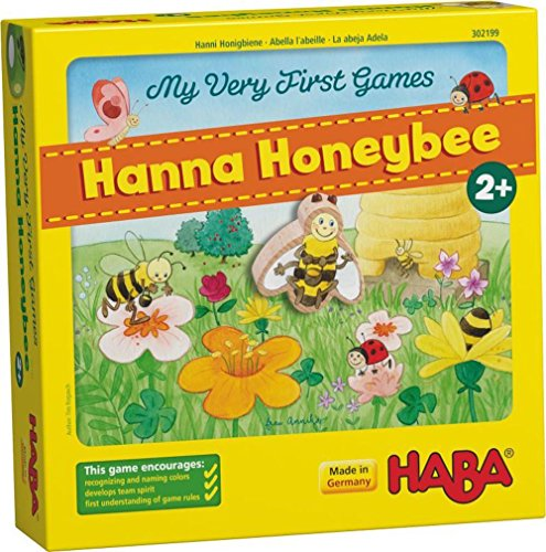 HABA My Very First Games Hanna Honeybee - 2 Cooperative Color Die Games Ages 2+ (Made in Germany)