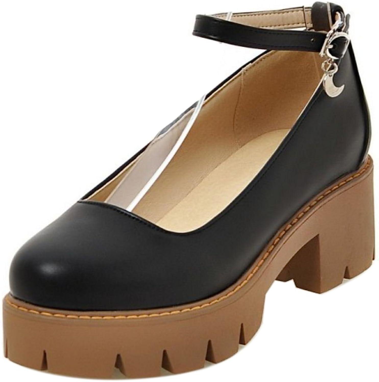 KemeKiss Women Fashion Chunky shoes Ankle Strap