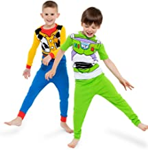 Toy Story Disney Boys' 4-Piece Cotton Pajama Set