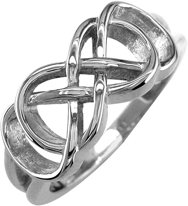 Best Friends Forever 0.01 CT Sist Small Diamond Double Infinity Symbol Charm