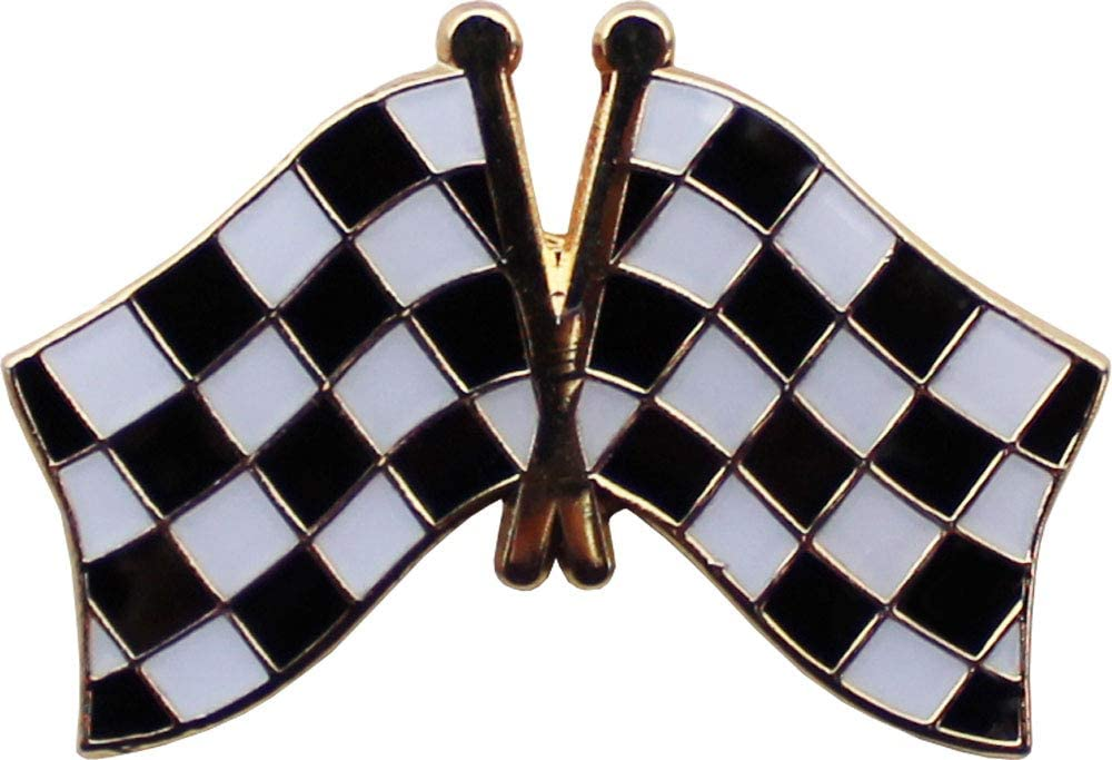 Flagline Checkered - Novelty Lapel Pin
