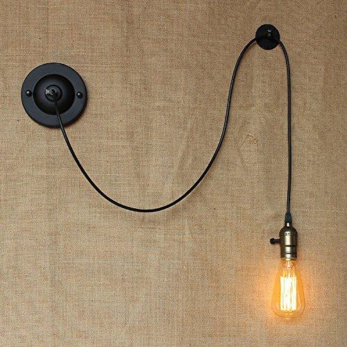 YU-K eenvoudige vintage slaapkamer wandlamp creatieve woonkamer eetkamer licht gang lichten lichten DIY vrijheid van klimmen draadvrij wandlamp, kabellengte 2 m control