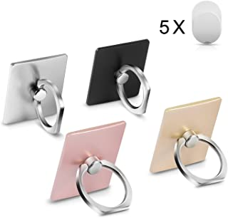 (4 - Pack) MobilePhone Ring Holder Stand, 360° Rotation Universal Smartphone Ring Grip Stand Car Mounts for iPhone, iPad, Samsung, Other Smartphones and Tablets
