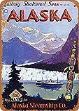 HiSign Alaska Company Zinn Wand Zeichen Retro Eisenmalerei