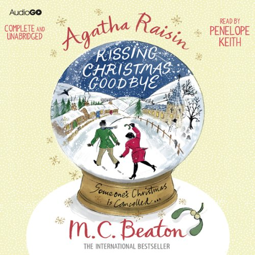 『Agatha Raisin and Kissing Christmas Goodbye』のカバーアート