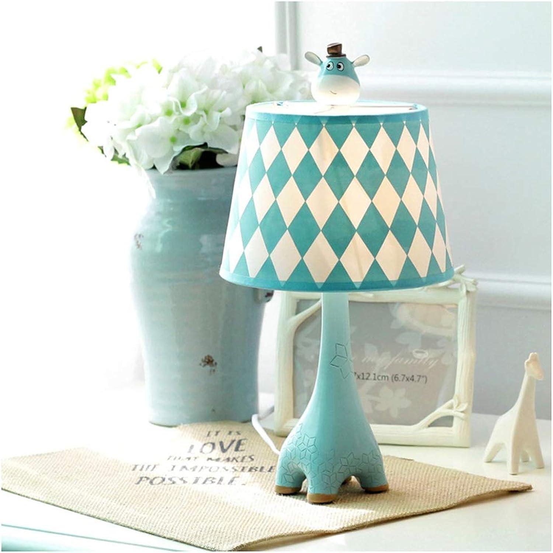 CJW Giraffenschlafzimmer-Nachttischlampe - kreatives warmes Auge der Kinderzimmerkarikatur (Farbe   Blau-19cmX37cm) B07Q2R73V5 | Hat einen langen Ruf