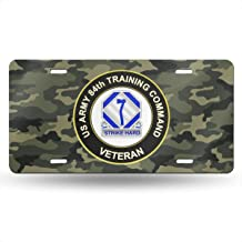 ANSok US Army 84th Training Command Unit Crest Veteran Novelty License Plate Tag Sign Car Accessories