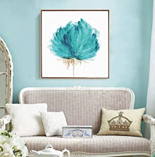 Peinture À l'huile 100% Peinte À La Main sur Toile,Hand Blue Peony Pictures Flowers Oil Painting Graphic Artwork Canvas Po...