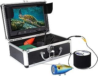 Cámara de buscador de pesca de 9 pulgadas, 30IR Leds 1000 TVL Monitor LCD Buscador de pesca submarina, Buscador de artícul...