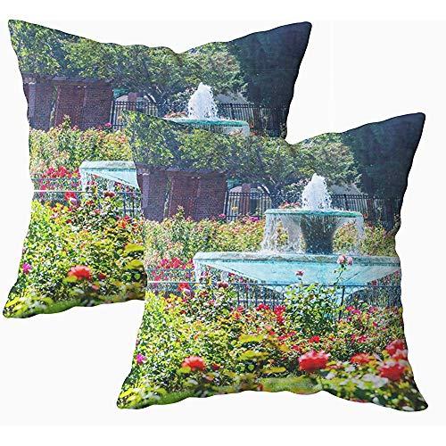 Ducan Lincoln Pillow Case 2 Stücke 18x18 Zoll Kissenbezug, Dekokissenbezüge Für Sofa Abstract Accent Arrangement Kunst Kunstwerk Hintergrund Beauty Bloom Blossom Botanica Squaren