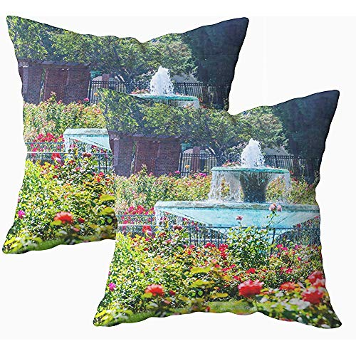 Ducan Lincoln Pillow Case 2 Stücke 18x18 Zoll Kissenbezug, Dekokissenbezüge Für Sofa Abstract Accent Arrangement Kunst Kunstwerk Hintergrund Beauty Bloom Blossom Botanica Squaren