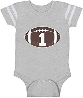 Tstars Gift for 1 Year Old Boy Football Baby Boy 1st Birthday Baby Jersey Bodysuit