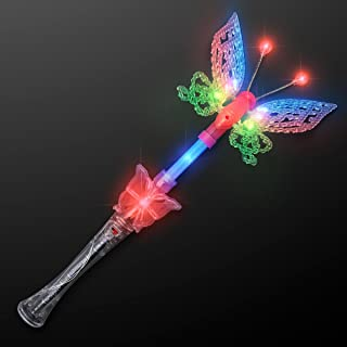 FlashingBlinkyLights Large Musical Blinking Butterfly Wands