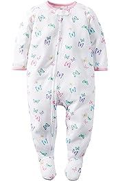 Carters Little Girls Print Footie - Ice Cream Toddler//Kid 3T