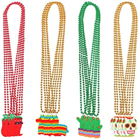 20 PCS Cinco de Mayo Beaded Necklace Mexican Fiesta Bachelorette Party Decorations Supplies product image