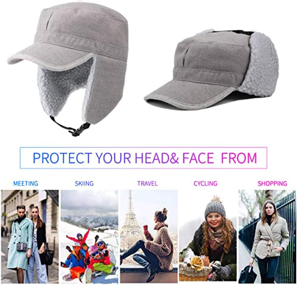 Samyth Winter Windproof Ear Flap Hats Quick Release Buckle Warm Baseball Cap