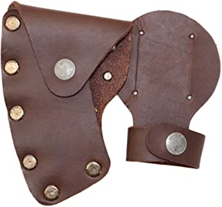 Hide & Drink, Leather Axe Head Case/Lumberjack/Protector/Sheath/Cover/Sleeve/Accessories, Handmade Includes 101 Year Warranty :: Bourbon Brown