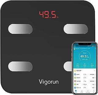Bilancia Pesa Persona Digitale Vigorun Bilancia Pesapersone Impedenziometrica 17 Dati di Misurazione del Corpo Peso/Muscol...