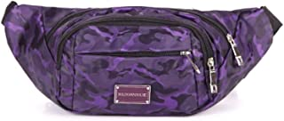 Travel Essential, Stylish and Durable Waterproof Nylon Casual Outdoor Riding Bag 22x10x13cm (Color : Purple, Size : 22x10x13cm)