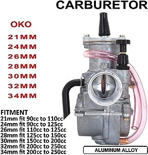 Carburador OKO para Motocicleta de 24 mm para Honda Suzuki Kawasaki Yamaha KTM 90 CC a 125 CC