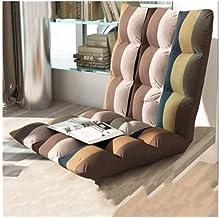LJBH Lazy Couch Fabric Single Tatami, Modern Minimalist Environmentally-friendly Folding Bed Chair Floating Window Chair L...