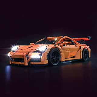 LIGHTAILING Light Set for (Technic Porsche 911 GT3 RS) Building Blocks Model - Led Light kit Compatible with Lego 42056(NOT Included The Model)
