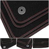 tuning-art BDN179 Alfombrillas de Doble Costura para Peugeot Bipper Tepee A 2008-, Costura:2X Rojo