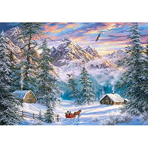 Castorland C-104680-2 Mountain Christmas-1000 stukjes Puzzle, Bunt