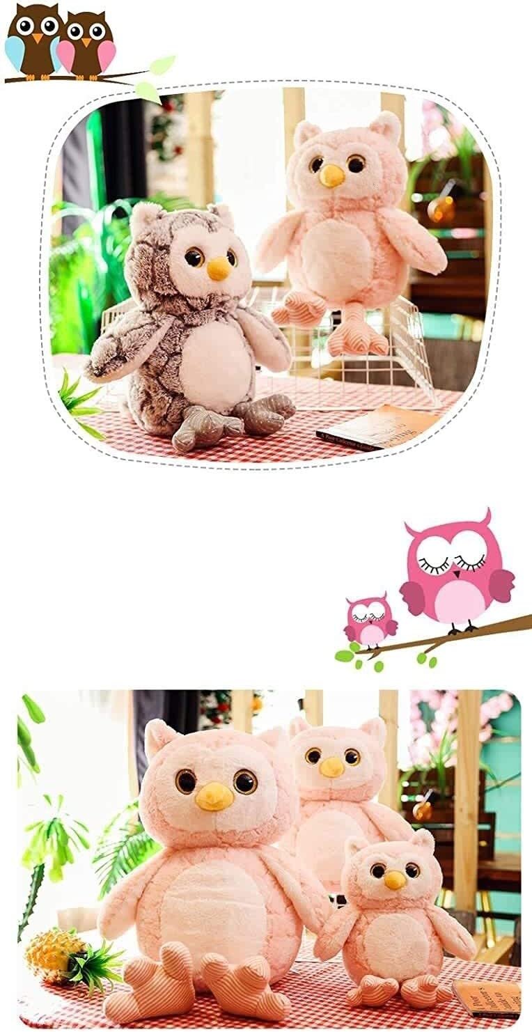 Uil doll Gevulde speelgoed New pop 50cm dljyy (Color : Pink) Pink