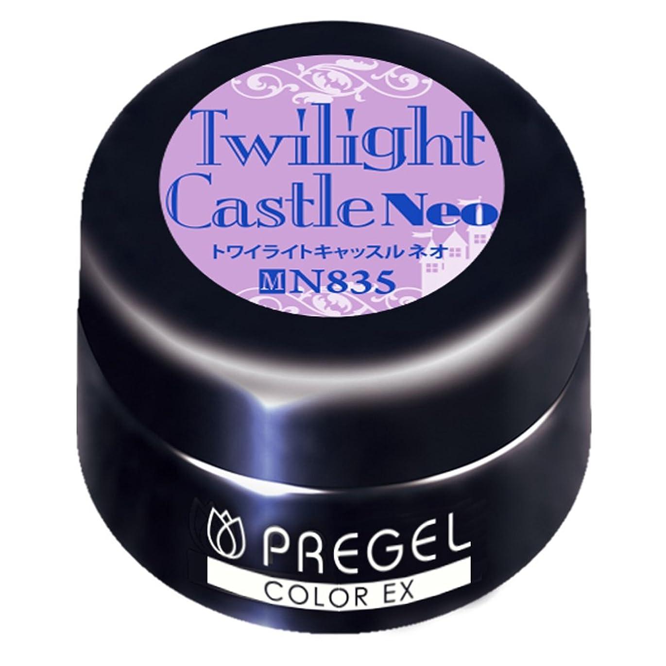 荒野先のことを考える印象派PRE GEL カラーEX トワイライトキャッスルneo835 3g UV/LED対応
